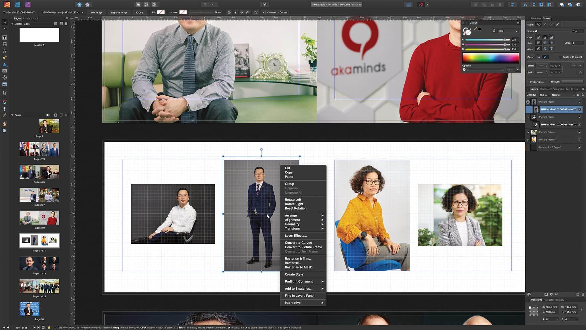 Biên tập và cập nhật các bộ ảnh (portfolio). Ảnh: Paratime Studio